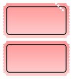 Due biglietti in bianco Immagini Stock