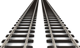Due binari ferroviari Immagine Stock