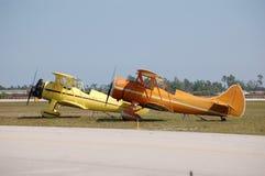 Due biplani di Waco fotografie stock