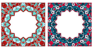Due blocchi per grafici ornamentali Fotografia Stock