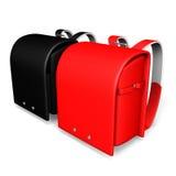 Due borse di scuola giapponesi Fotografie Stock