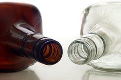 Due bottiglie Fotografie Stock