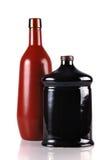 Due bottiglie decorative isolate su bianco Fotografia Stock Libera da Diritti
