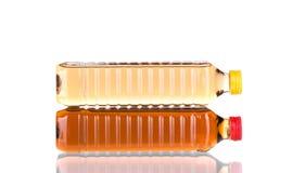 Due bottiglie dell'olio di girasole Fotografia Stock Libera da Diritti