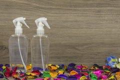Due bottiglie dello spruzzo Immagine Stock