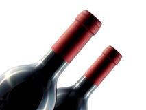 Due bottiglie di vino Immagine Stock Libera da Diritti