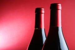 Due bottiglie di vino rosso Fotografia Stock Libera da Diritti