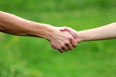 Due braccia degli amanti Immagine Stock
