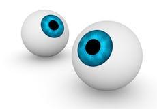 Due bulbi oculari Fotografie Stock Libere da Diritti