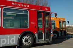 Due bus di CNG fotografia stock