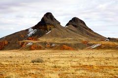 Due Buttes, valle del monumento immagini stock libere da diritti
