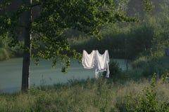 Due camice bianche fotografia stock