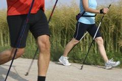 Due camminatori Fotografia Stock