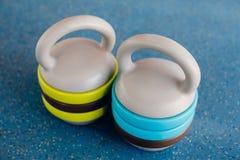 Due campane del bollitore Fotografie Stock