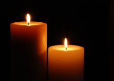 Due candele fotografia stock