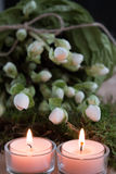 Due candele di arrivo Fotografia Stock