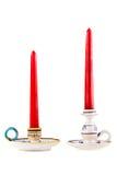 Due candelieri sopra bianco immagini stock