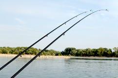Due canne da pesca Immagine Stock