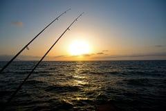 Due canne da pesca Fotografie Stock Libere da Diritti