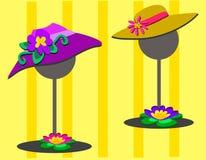 Due cappelli sui basamenti Fotografia Stock