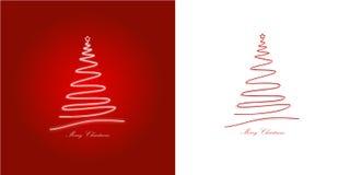 Due cartoline di Natale/colore rosso, bianco Fotografia Stock