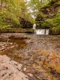 Due cascate sul fiume Nedd immagine stock libera da diritti