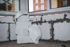 Due caschi costruzione Fotografia Stock Libera da Diritti