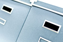 Due caselle di memoria blu Immagine Stock Libera da Diritti