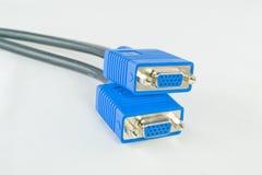 Due cavi di segnale del VGA Fotografie Stock