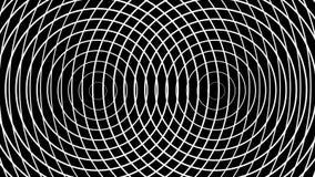 Due cerchi di palpitazione formano gli anelli bianchi concentrici che passano un fondo nero illustrazione di stock