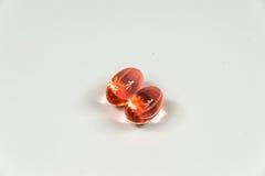 Due chiare perle molli rosse 2 Immagini Stock