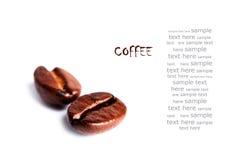 Due chicchi di caffè Immagine Stock Libera da Diritti