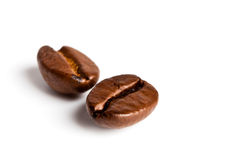 Due chicchi di caffè Fotografia Stock Libera da Diritti