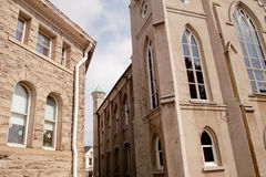 Due chiese Fotografia Stock