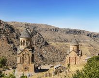 """Due chiese Surb Nshan del †medievale di Horomayr del monastero """"è situata a sud-est del villaggio di Odzun, regione di Lori, immagine stock"""