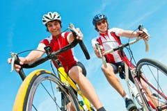 Due ciclisti Fotografia Stock