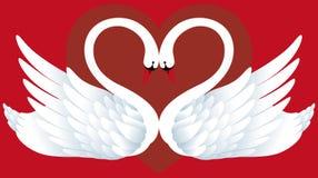 Due cigni nell'amore illustrazione vettoriale