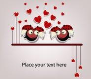 Due coccinelle innamorate Immagine Stock