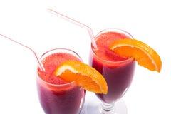 Due cocktail con le arance Fotografie Stock Libere da Diritti