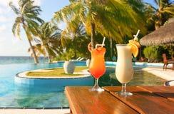 Due cocktail sulla vacanza tropicale Fotografia Stock Libera da Diritti