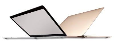 Due computer portatili fotografie stock