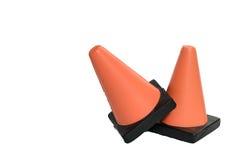 Due coni di sicurezza Immagine Stock