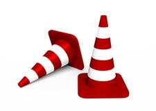 Due coni di traffico illustrazione di stock