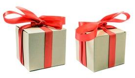 Due contenitori di regalo Immagini Stock Libere da Diritti