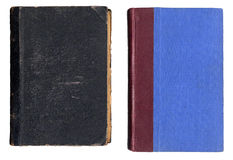 Due copertine di vecchio libro Fotografia Stock