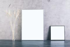 Due cornici in bianco Fotografia Stock