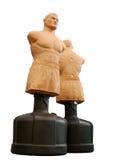 Due corpo a forma di sacchetti di perforazione per le arti marziali Fotografia Stock