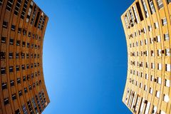 Due costruzioni Fotografie Stock