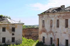 Due costruzioni abbandonate Immagini Stock