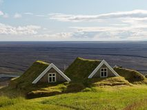 Due cottage antichi in Islanda immagini stock libere da diritti